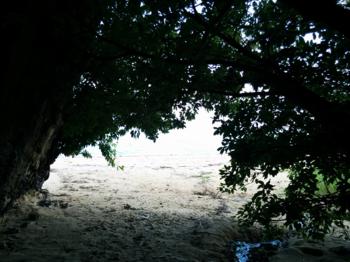 百名ビーチ 海の入口.png